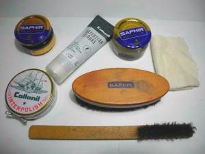 靴職人の靴磨き道具